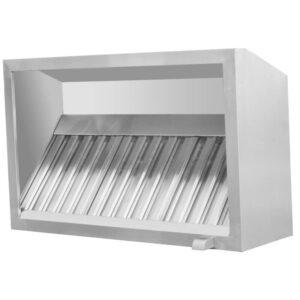 Ventilationskåpa 160 cm med fettsamlare och belysning