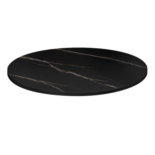 Bordsskiva 60cm, svart slintrad